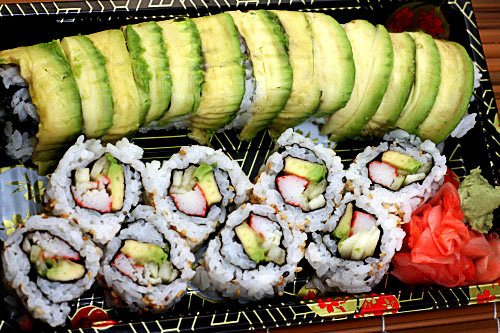 California Roll and Dragon Roll Sushi tutorials