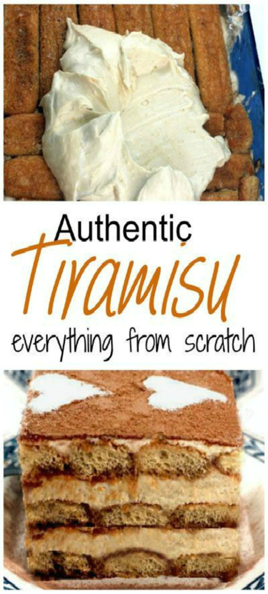 Authentic Tiramisu with Homemade Mascarpone Cheese and Ladyfingers! AND a secret ingredient that makes it just a little bit better than your basic tiramisu! #tiramisu #mascarpone #ladyfingers