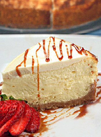 KILLER Mascarpone Cheesecake. A slice of creamy, fluffy heaven.
