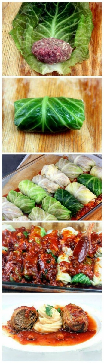 Amazing Stuffed Cabbage Rolls. Tender leaves of cabbage stuffed and rolled with beef, garlic, onion and rice, simmered in a sumptuous, velvety tomato sauce!#stuffedcabbagerolls #stuffedcabbage #cabbage #beef #rice #tomatosauce