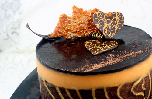 Peanut Butter and Milk Chocolate Entremet