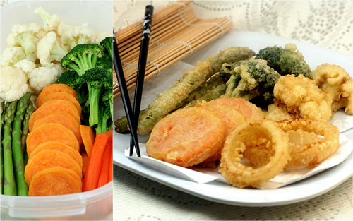 How to make the best tempura! From sweet potato to broccoli to onion to cauliflower, plus garlic soy soba noodles with caramelized vegetables and a tempura egg.