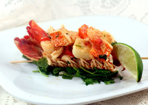 Warm Chile Lime Lobster Potato Salad