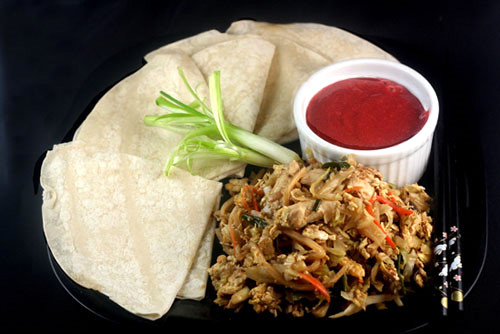 Moo Shu Chicken with Mandarin Pancakes and a gorgeous, delicious, Plum Sauce!