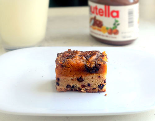 Pumpkin Pie Nutella Chocolate Chip Snickerdoodle Bars