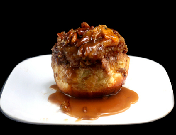 Candied Orange Toasted Pecan Sticky Buns filled with chocolate!