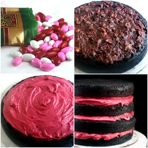 Fudgy and Moist 4-Layer Dark Chocolate Cake Recipe, and the Most Amazing Fresh Raspberry Buttercream. No Food Color - All Natural.