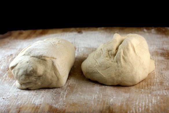 Homemade Turkish Pide stuffed with fresh, homemade chevre cheese!