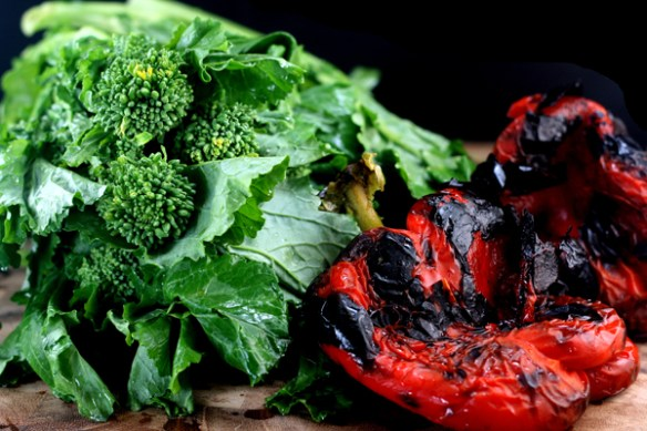 Three Cheese Broccoli Rabe, Prosciutto and Roasted Red Pepper Stromboli
