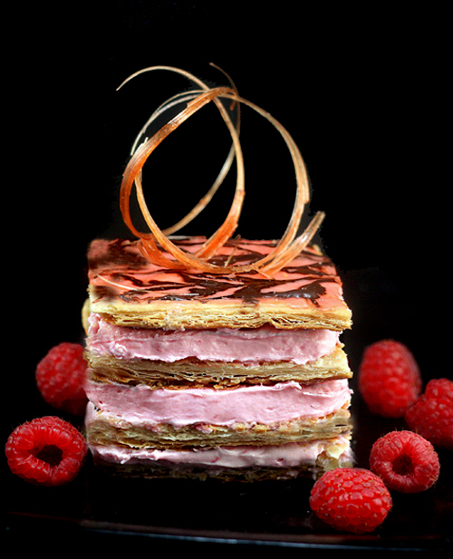 raspberry mousse almond praline napoleons mille feuille for pink october parsley sage. Black Bedroom Furniture Sets. Home Design Ideas