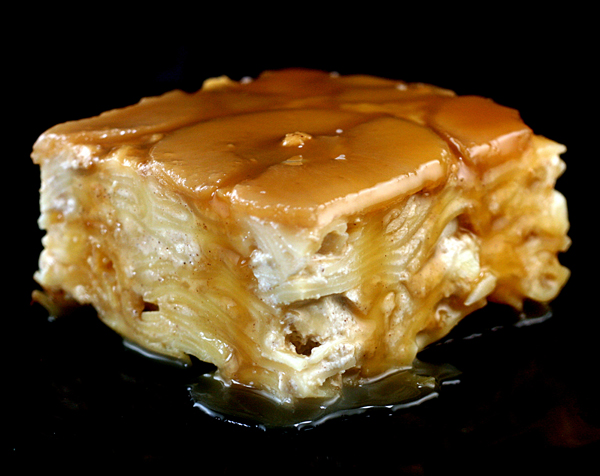 Caramel Apple Upside Down Noodle Kugel