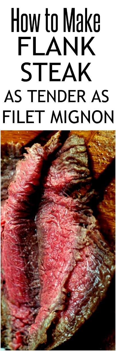 Asian Infused Flank Steak and How to Make Flank Steak as Tender as Filet Mignon. #flanksteak #steak #Asianflanlsteak