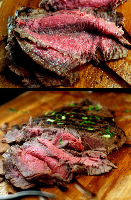 Spicy Asian Marinated Flank Steak and How to Make Flank Steak as Tender as Filet Mignon. | https://parsleysagesweet.com | #flanksteak #steak #Asian #Grilled