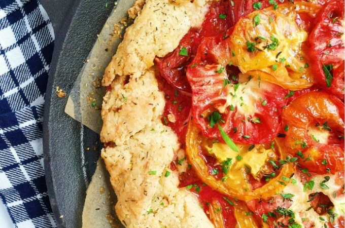 Rustic Manchego + Heirloom Tomato Crostata