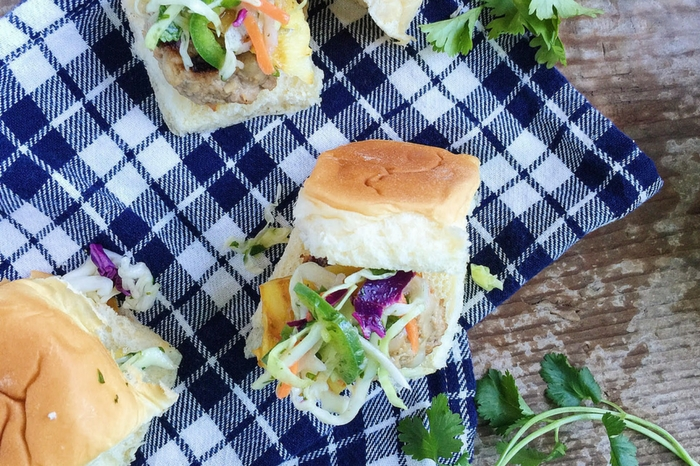 Hawaiian Teriyaki Turkey Burger Sliders