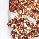 cranberry pepita cocao nib chocolate bark