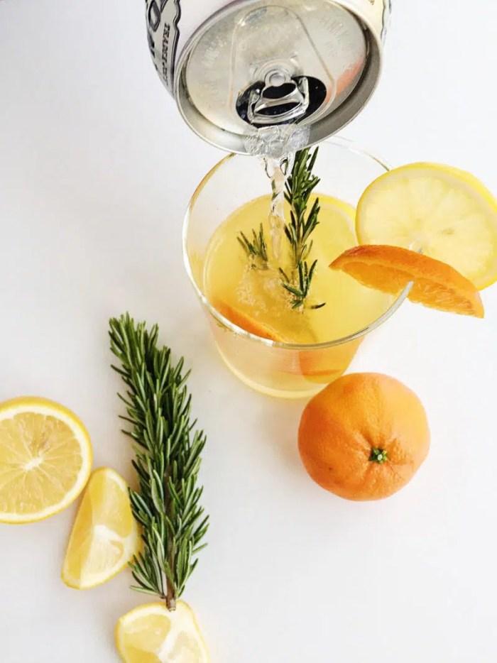 rosemary citrus gin and tonic