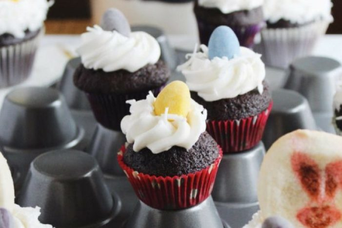 easy easter bunny cupcakes