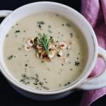 hazelnut parsnip soup