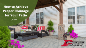 paver patio needs good drainage