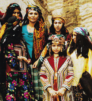 Farah Pahlavi & local women in Luristan - 1970s