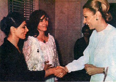 Farah with Shahrzad & Pouri Banaei - 1970s