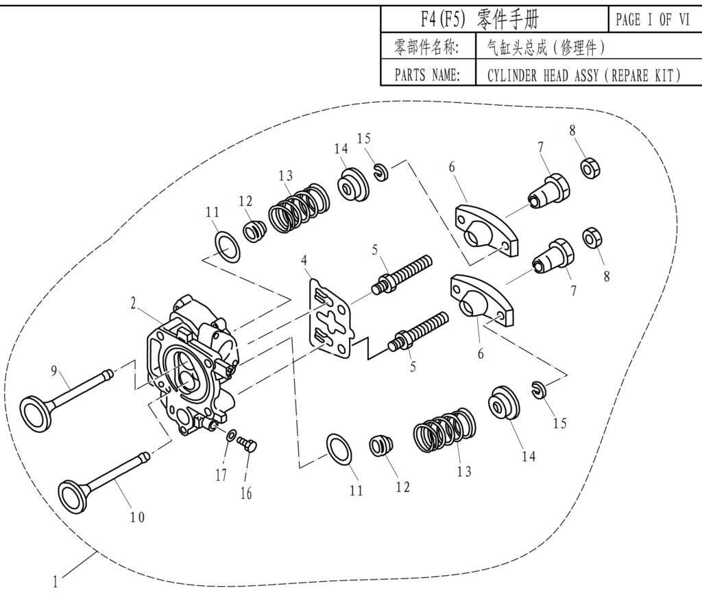 F4f5 Cylinder Head Assembly Repair Kit