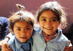 Des écolières au Népal