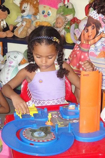 Écolière au Brésil