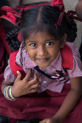 Une écolière Indienne