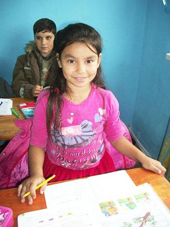 Une jeune élève Roumaine