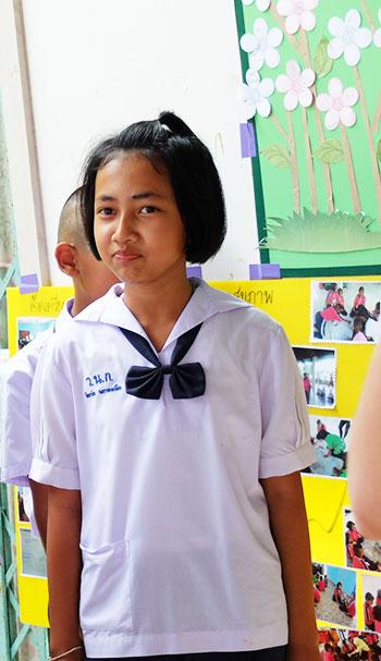 Écolière en Thaïlande