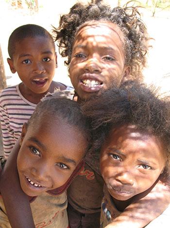 Jeunes enfants Malgache