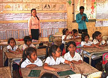 En classe au Cambodge