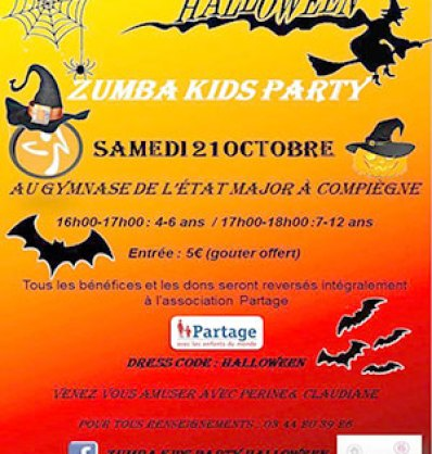 Zumba kids Halloween party au profit de Partage