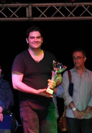 Maurizio Liberto degli Ironthon, premiato come miglior chitarrista