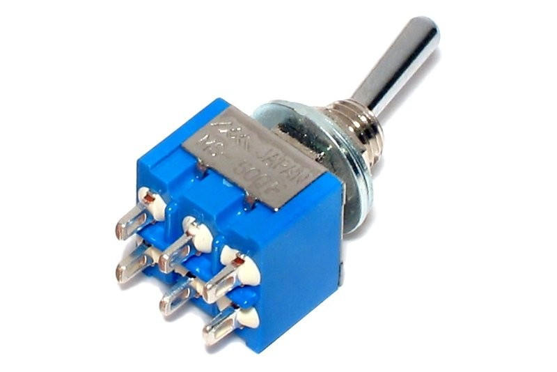 2 Pole Small Toggle Switch On On On 3 Way