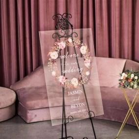 Cartelli Plexiglass tableau de mariage YK002_2