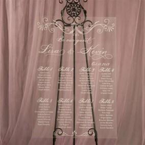 Cartelli Plexiglass tableau de mariage YK003
