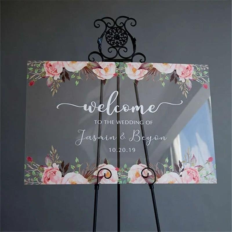 Cartelli Plexiglass tableau de mariage YK004_4