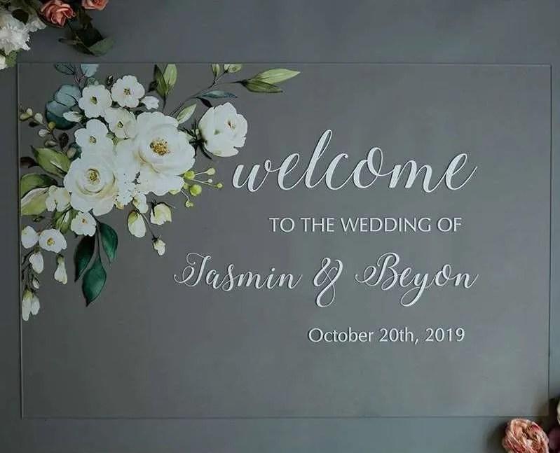 Cartelli Plexiglass tableau de mariage YK006_4