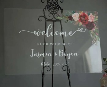 Cartelli Plexiglass tableau de mariage YK010_3