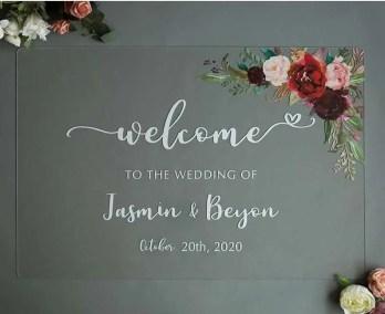 Cartelli Plexiglass tableau de mariage YK010_4