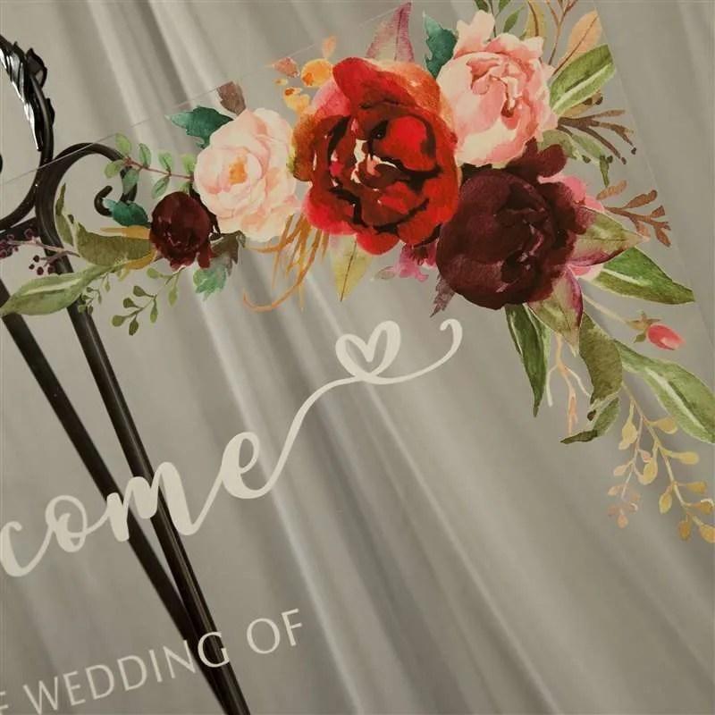 Cartelli Plexiglass tableau de mariage YK010_7
