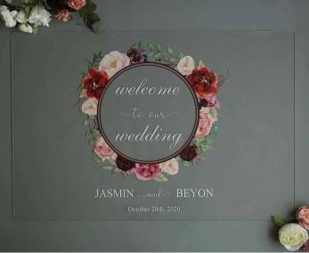 Cartelli Plexiglass tableau de mariage YK011_5