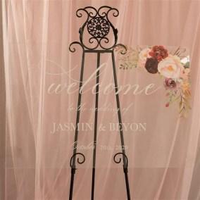 Cartelli Plexiglass tableau de mariage YK013_10