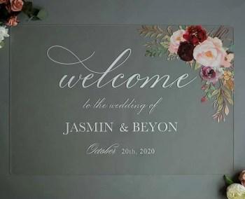 Cartelli Plexiglass tableau de mariage YK013_5