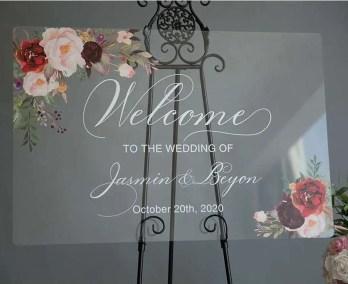 Cartelli Plexiglass tableau de mariage YK015_4
