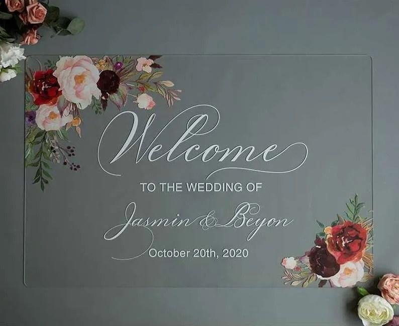 Cartelli Plexiglass tableau de mariage YK015_5