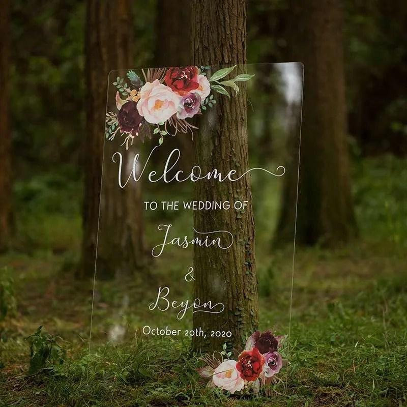 Cartelli Plexiglass tableau de mariage YK016_1